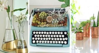 10 idées brillantes pour réaliser de splendides pots et jardinières DIY avec des objets de récup