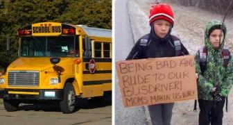 I figli sono stati scortesi con l'autista del bus: la mamma li fa camminare per 7 km fino a scuola