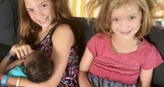 Due bambine conoscono la loro nuova sorellina adottiva e la loro reazione fa commuovere i genitori