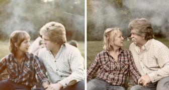 15 pessoas nostálgicas que quiseram recriar fotos antigas para celebrar o passado