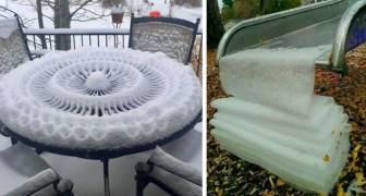 18 fois où la neige a créé des œuvres d'art si incroyables que les gens ont dû s'arrêter pour les photographier