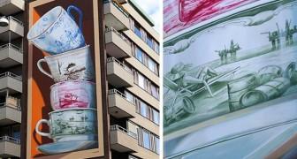 Questo affascinante murale in 3D si anima con la realtà aumentata ed è un importante monito per tutti