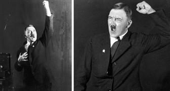 Technisch bewijs van dictatuur: deze zeldzame foto's tonen Hitler die zijn toespraken vol haat doorneemt