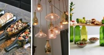 10 ingegnosi progetti fai-da-te per trasformare le bottiglie di vetro in decorazioni e accessori creativi