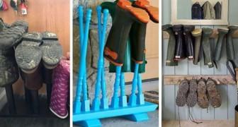 6 progetti da cui trarre spunto per realizzare comodi porta-stivali da tenere all'ingresso di casa