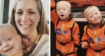 Os pais de 2 gêmeos com síndrome de Down mostram algumas imagens de sua doce vida cotidiana