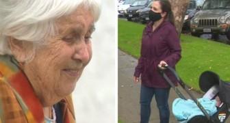 95-jährige Großmutter wird für ihre Schwätzchen mit ihrer Enkelin vom Balkon aus mit Kündigung gedroht