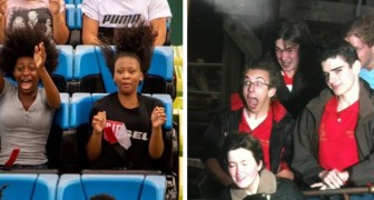16 photos amusantes prises sur les montagnes russes vous laisseront le souffle coupé
