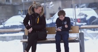 A child is freezing at the bus stop, some strangers step in to help him ...