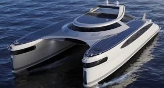 Un designer italiano presenta un catamarano anfibio a energia solare: è super-lussuoso e può muoversi ovunque