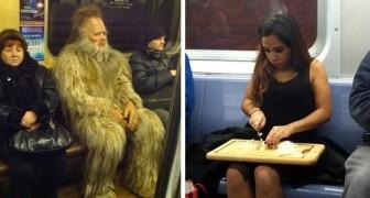 15 persone bizzarre immortalate nei mezzi pubblici mostrano di fregarsene del giudizio della gente