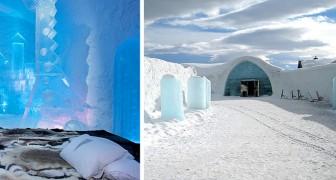 Questo hotel è costruito interamente nel ghiaccio: i suoi interni incantati sembrano usciti da una fiaba