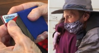 At 12 years old a girl gives all the money she received for her birthday to a homeless man who returned a lost wallet to her grandmother