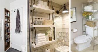 12 solutions géniales pour trouver de la place en plus même dans les salles de bains de petites dimensions