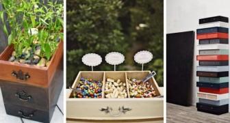 Vieux tiroirs : 10 projets de recyclage incroyables pour les transformer en meubles