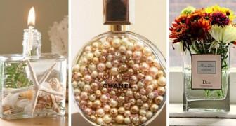 8 astuces créatives pour réutiliser les flacons de parfum vides comme décorations