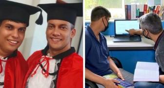 Ein Vater unterstützt seinen autistischen Sohn auf dem Weg seines Jurastudiums: Heute haben sie beide ihren Abschluss gemacht