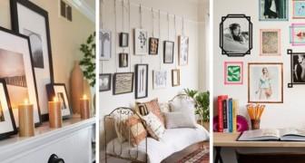 10 trovate originali e alternative per appendere foto, cornici e poster senza usare i chiodi