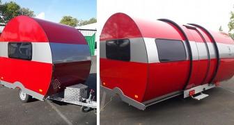 Het is niet wat je denkt: deze caravan kan in enkele seconden verdrievoudigd worden