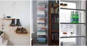 10 soluzioni ingegnose e creative per creare mobili utili e ricavare spazio extra in casa