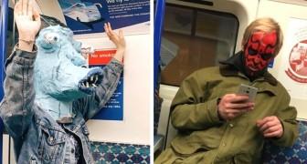 17 foto di persone sorprese sui mezzi pubblici nelle situazioni più bizzarre
