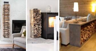 9 soluzioni brillanti per realizzare porta-legna belli e pratici col fai-da-te