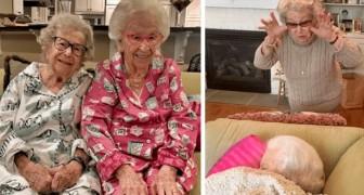 Una tiene 105 años, la otra 100: estas dos hermanas pelean todavía como si fueran niñas