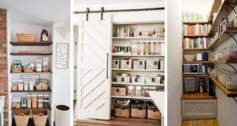 9 brillanti soluzioni fai-da-te per allestire una dispensa in cucina