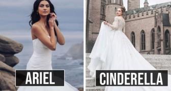 Disney lancia una linea di vestiti da sposa: 16 abiti ispirati alle principesse protagoniste delle favole