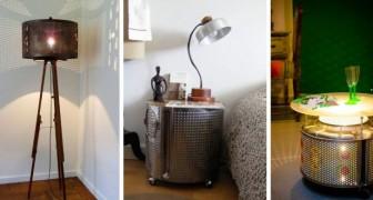 11 modi diversi per ricavare mobili insoliti e affascinanti da un vecchio cestello di lavatrice