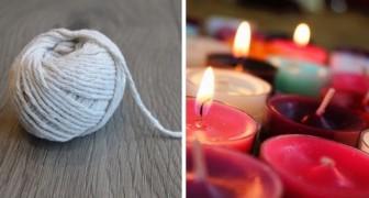 Il metodo semplicissimo per realizzare stoppini per candele con le vostre mani