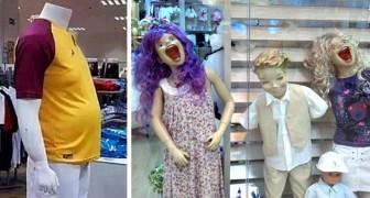 20 tra i manichini più divertenti e inquietanti che meritavano di essere immortalati nei negozi