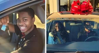 Liceale percorre 11 Km al giorno per andare al lavoro: una sconosciuta gli regala una macchina