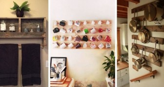 11 progetti strepitosi per fare ordine in casa con mobili fai-da-te ricavati dai pallet