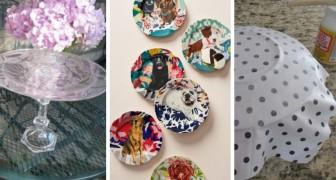 8 trovate super-creative per decorare e riciclare i piatti di vetro con fantasia