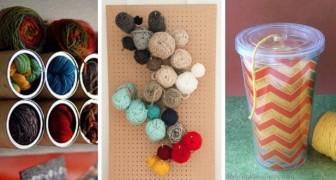 10 trovate creative e geniali per riporre con ordine i gomitoli di lana e cotone