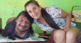 Nace sin piernas ni brazos y cría a sus dos hijas sin la ayuda de la mujer: Es el mejor papá del mundo