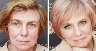 16 mulheres que, graças à magia da maquiagem, deram um toque vivaz à sua aparência