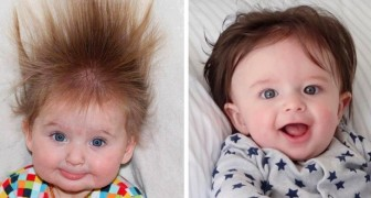 17 babies who, at few months old, have hair so long that it looks like they are wearing a wig