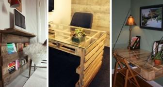 11 idées, plus belles les unes que les autres, pour créer des bureaux DIY originaux, en utilisant les palettes