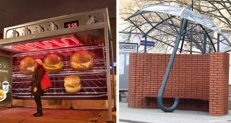 16 Haltestellen, die so kreativ und originell sind, dass man fast hofft, dass der Bus nicht vorbeifährt