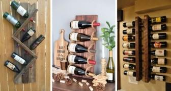 9 idee super-creative per realizzare mobili porta-bottiglie fai-da-te dove esporre i vostri vini preferiti