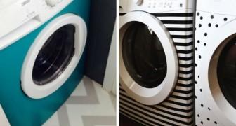 8 idées super originales pour décorer la machine à laver avec des autocollants, le washi tape ou le tissu