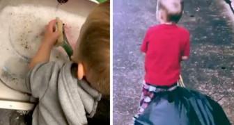 Vid 2 års ålder vet han hur man tvättar, lagar mat och gör te: denna mamma använder Montessori-metoden
