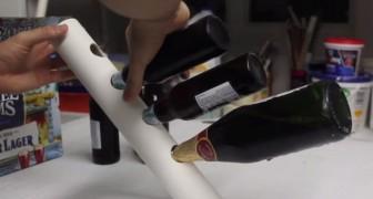 Avec un tube en plastique on peut créer un porte-bouteille qui DEFIE la force de gravité