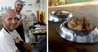 A chef decides to donate food left by his customers to the animals in local shelters