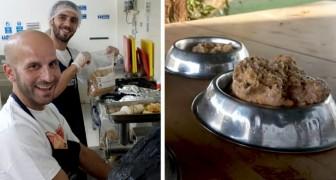 En kock beslutar att donera den mat som hans kunder inte ätit upp till lokala djurskyddshem