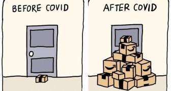 15 Zeichnungen von Irina Blok erzählen uns perfekt, wie sich unser Leben seit Covid verändert hat