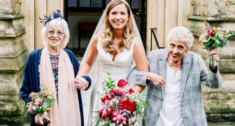 You are the most important people to me: she asks her two grandmothers to accompany her to the altar as bridesmaids