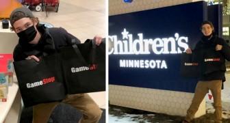 Compra delle azioni e guadagna a sorpresa 30000 $: li spende regalando giochi ai bambini dell'ospedale
